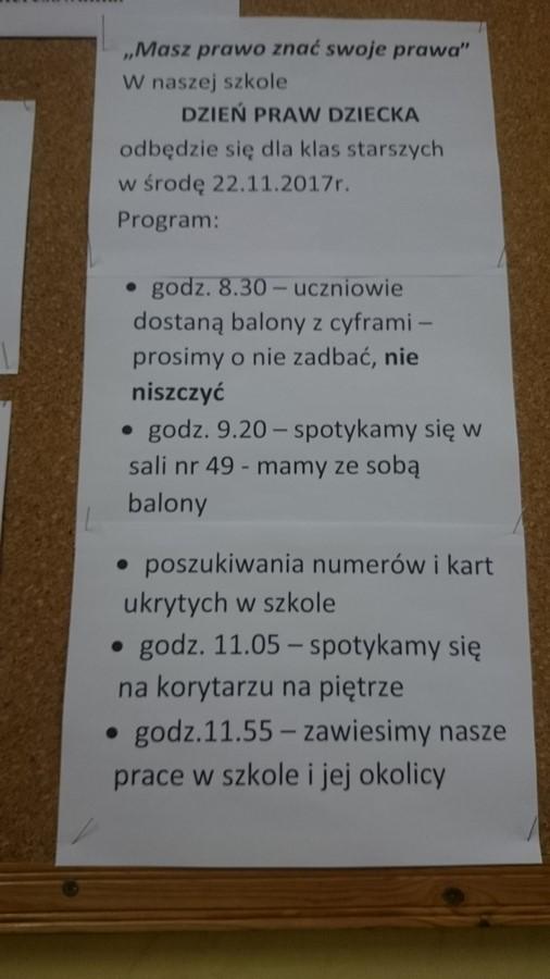 Szkolny Dzień Praw Dziecka Szkoła Podstawowa Specjalna Nr