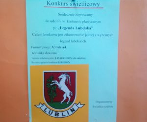 "Konkurs świetlicowy pt. ""Legenda Lubelska""."